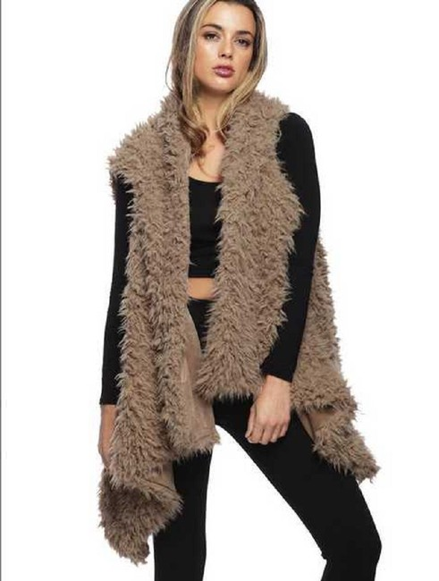 Other Fur Wrap Fur Coat Fur Shawl Fur Cape Ruana Vest Image 3