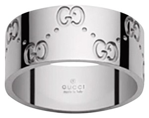 Gucci GUCCI Engraved Band Ring - Size 9