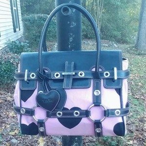 Luella Satchel in Pink and Black