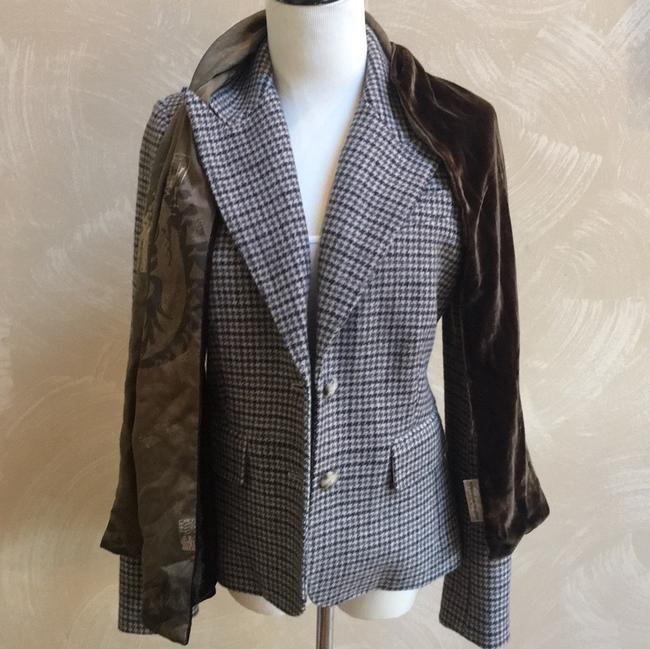 Juicy Couture Berry Brown, Green, Oatmeal, Blazer Image 9