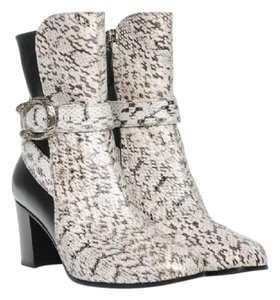Gucci Dionysus Snake Snakeskin black and white Boots