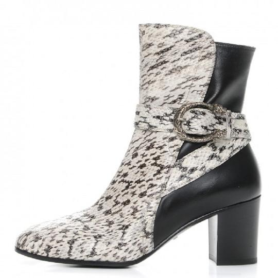 Gucci Web black and white Boots Image 2