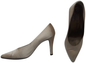 Saint Laurent Ysl Evening Satin Formal Tan Pumps
