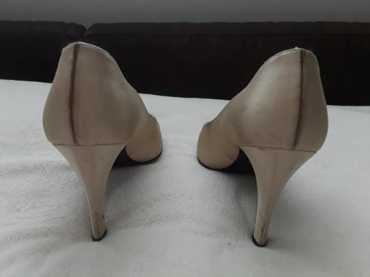 Saint Laurent Ysl Evening Satin Formal Tan Pumps Image 3