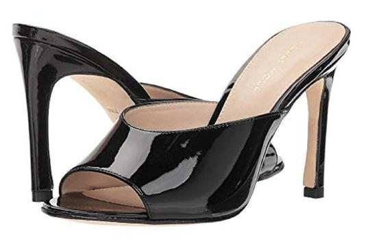 Pelle Moda Patent Leather Black Sandals Image 0