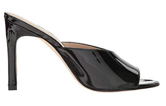 Pelle Moda Patent Leather Black Sandals Image 2