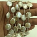 IPS 925 Sterling Silver Mother of Pearl Long Necklace 59