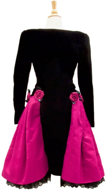 Preload https://img-static.tradesy.com/item/24372893/dior-black-and-fuchsia-haute-couture-mid-length-cocktail-dress-size-8-m-0-1-650-650.jpg