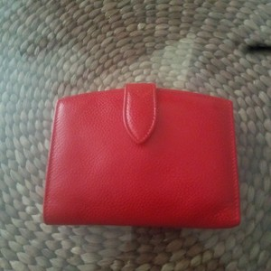 Coach Coach Vintage Scarlet Madison Caviar Grained Leather Clutch Wallet