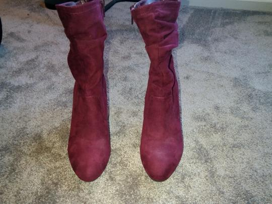 Unknown Burgundy Boots Image 2