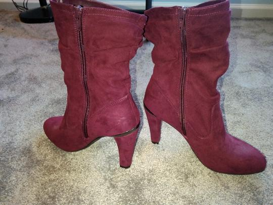 Unknown Burgundy Boots Image 3