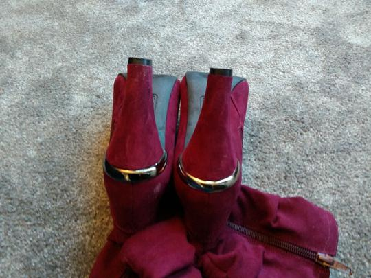 Unknown Burgundy Boots Image 5