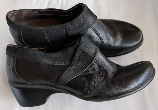 Hush Puppies Leather Comfortable Black Mules Image 3