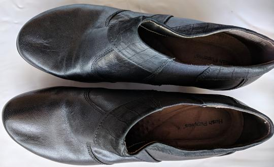 Hush Puppies Leather Comfortable Black Mules Image 4
