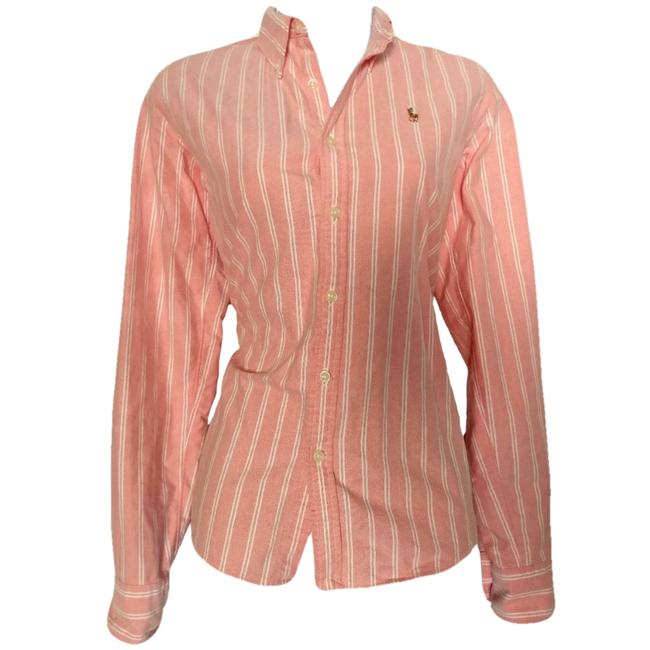 Preload https://img-static.tradesy.com/item/24372982/ralph-lauren-pink-shirt-stripes-pinstripe-coral-striped-button-up-button-down-top-size-6-s-0-0-650-650.jpg