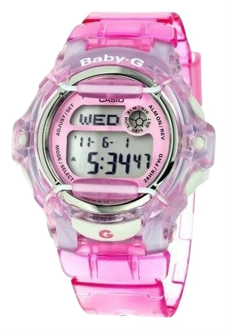 Item - Bg169r-4 Sports Kids Pink Resin Band with Digital Dial Genuine Watch