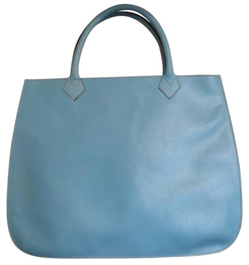 Preload https://img-static.tradesy.com/item/24373098/suede-handbag-blue-and-green-leather-tote-0-1-540-540.jpg