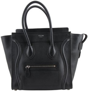 Céline Luggage Tote in Black