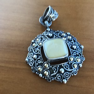 Samuel B. sterling silver 18k accent pendant