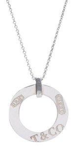 Tiffany & Co. Tiffany Sterling Silver Circle Pendant Necklace
