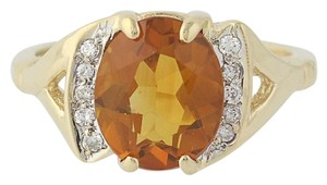 Other Citrine & Diamond Ring - 14k Yellow Gold N7970