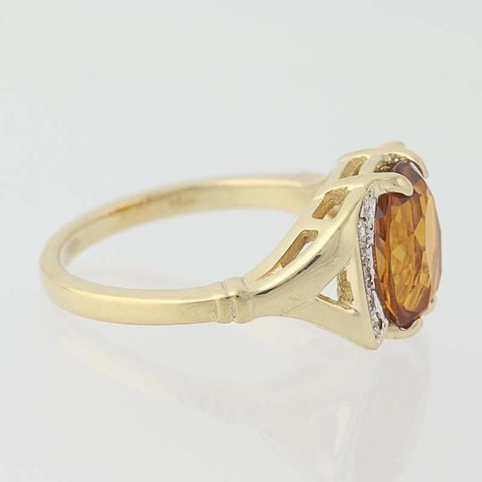 Other Citrine & Diamond Ring - 14k Yellow Gold N7970 Image 1