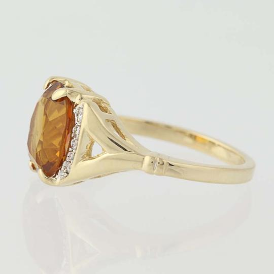 Other Citrine & Diamond Ring - 14k Yellow Gold N7970 Image 2