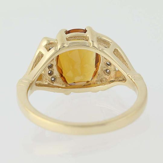 Other Citrine & Diamond Ring - 14k Yellow Gold N7970 Image 3