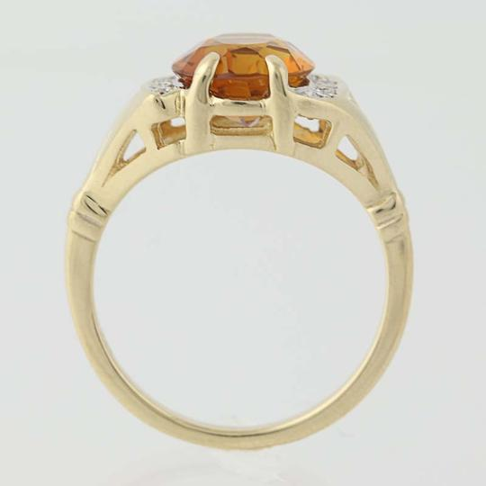 Other Citrine & Diamond Ring - 14k Yellow Gold N7970 Image 4