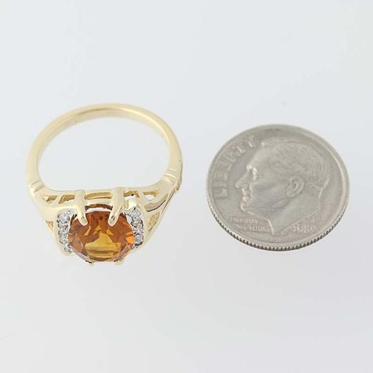 Other Citrine & Diamond Ring - 14k Yellow Gold N7970 Image 6