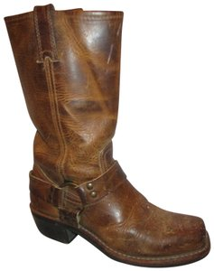 Frye Leather Riding Harness Distressed Onm001 tan/brown Boots