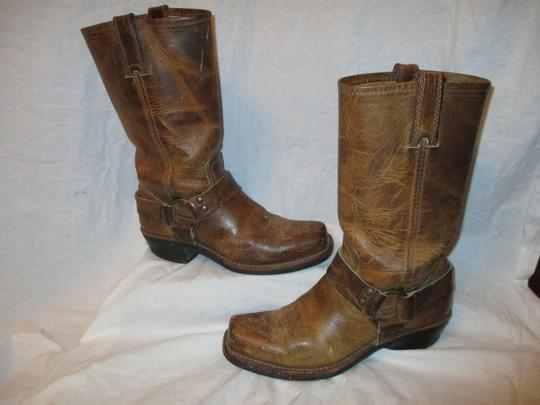 Frye Leather Riding Harness 001 tan/brown Boots Image 1