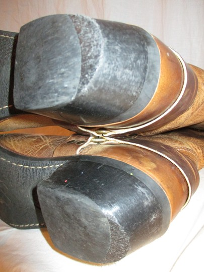 Frye Leather Riding Harness 001 tan/brown Boots Image 11