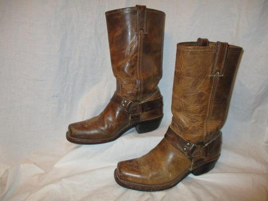 Frye Leather Riding Harness 001 tan/brown Boots Image 2