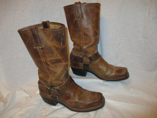 Frye Leather Riding Harness 001 tan/brown Boots Image 3