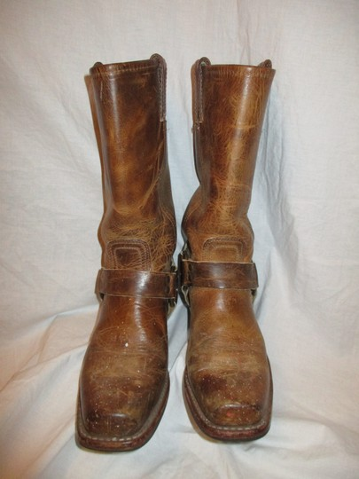 Frye Leather Riding Harness 001 tan/brown Boots Image 4