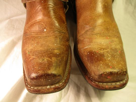 Frye Leather Riding Harness 001 tan/brown Boots Image 5