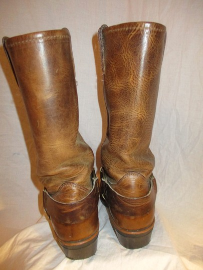 Frye Leather Riding Harness 001 tan/brown Boots Image 6
