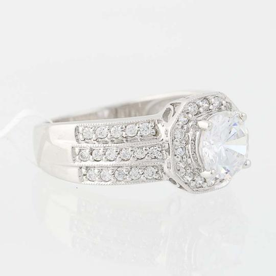 Other NEW Cubic Zirconia Halo Engagement Ring - 10k White Gold N8058 Image 1