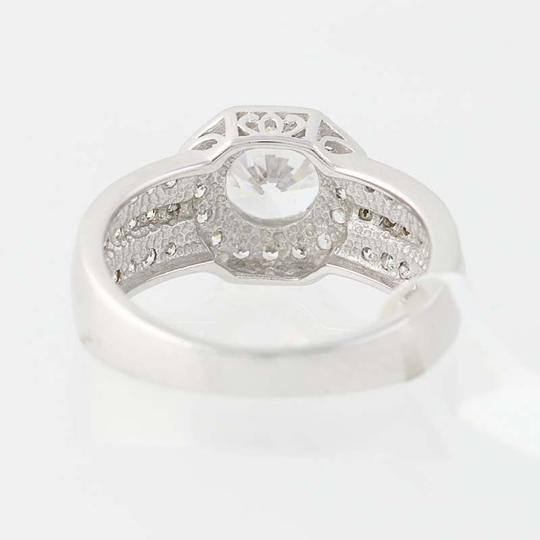 Other NEW Cubic Zirconia Halo Engagement Ring - 10k White Gold N8058 Image 4