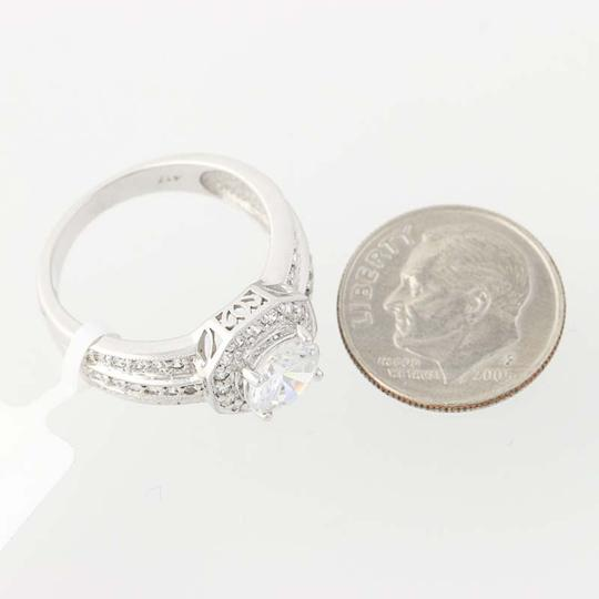 Other NEW Cubic Zirconia Halo Engagement Ring - 10k White Gold N8058 Image 6
