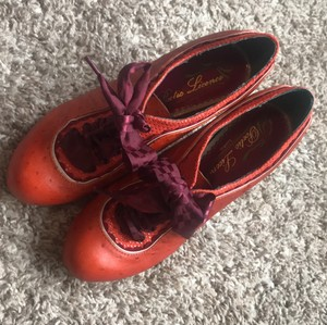 Poetic License burnt orange/magenta Boots