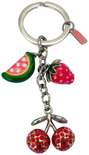 Coach Pave Crystal Fruit Mix Key Fob 92715 Keychain Charm Image 0