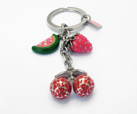 Coach Pave Crystal Fruit Mix Key Fob 92715 Keychain Charm Image 1
