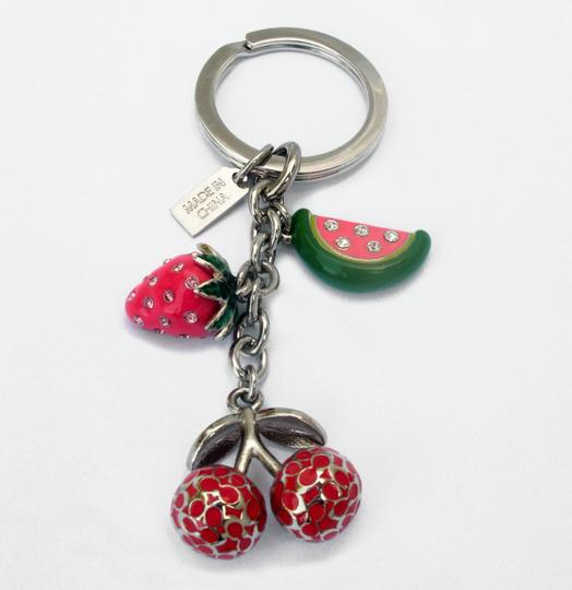 Coach Pave Crystal Fruit Mix Key Fob 92715 Keychain Charm Image 2