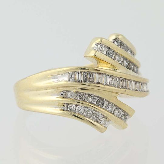 Other Diamond Bypass Ring - 10k Yellow Gold N8421 Image 1