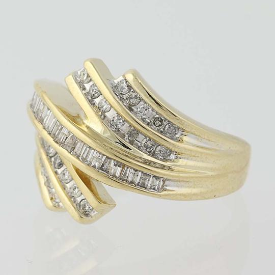 Other Diamond Bypass Ring - 10k Yellow Gold N8421 Image 2