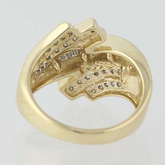 Other Diamond Bypass Ring - 10k Yellow Gold N8421 Image 3