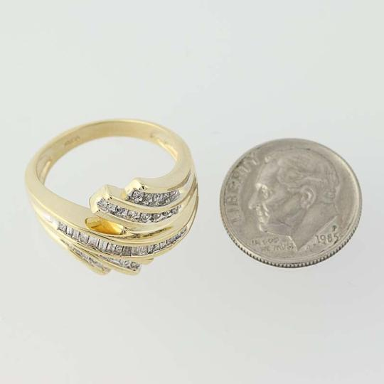 Other Diamond Bypass Ring - 10k Yellow Gold N8421 Image 5