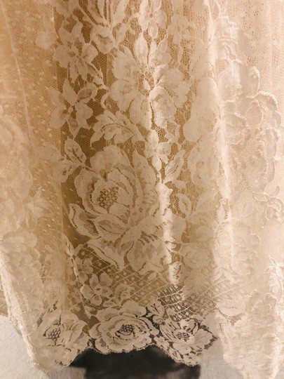Ivory Tulle Lace Chantilly Gown Feminine Wedding Dress Size 8 (M) Image 9